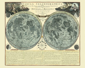 old celestial map moon