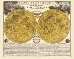 vintage map poster moon