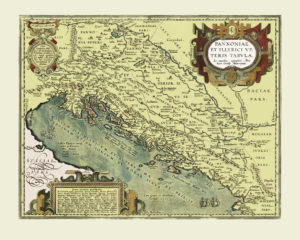 croatia vintage map reproduction
