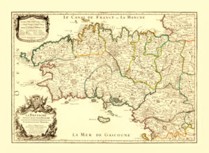 antique map reproduction bretagne