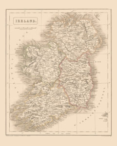 ireland vintage map reproduction