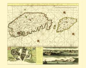 malta antique map reproduction