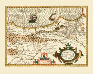 northern spain antique map reproduction