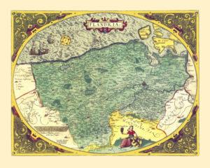 flanders vintage map poster
