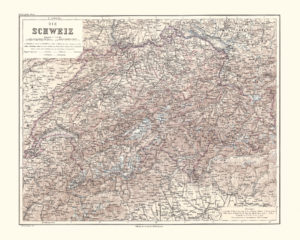 switzerland antique map reproduction