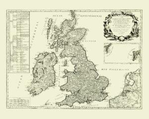 uk vintage map