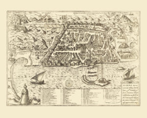 algiers antique map reproduction
