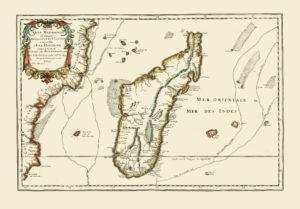 antique map reproduction madagascar