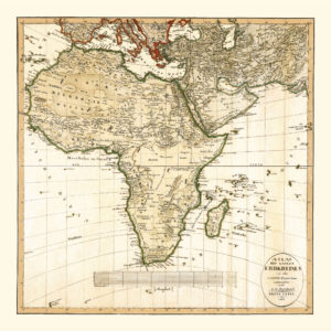africa vintage map poster