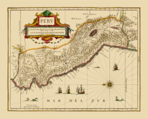 old map reproduction peru