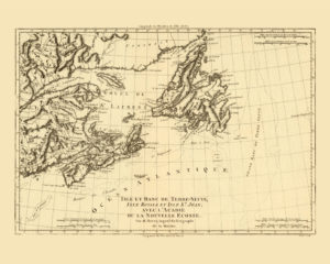 canada vintage map reproduction