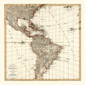 america vintage map poster
