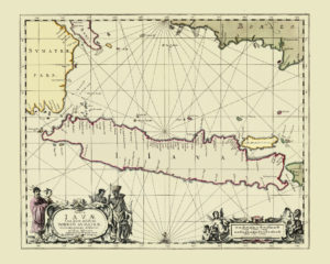 java antique map reproduction