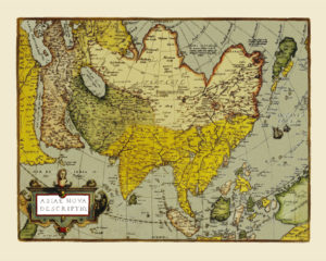 asia antique map reproduction