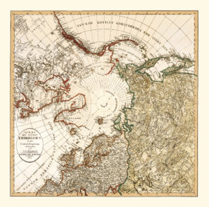 arctic vintage map reproduction
