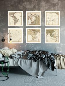 wolrd vintage map