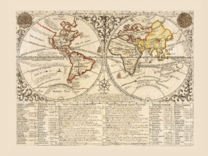 beautiful world map poster