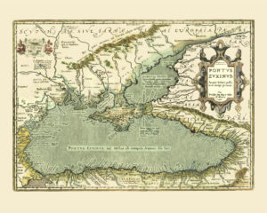 black sea old map