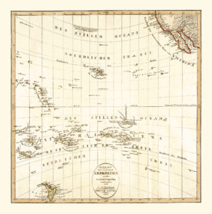 old map of the pacific ocean, Oceania