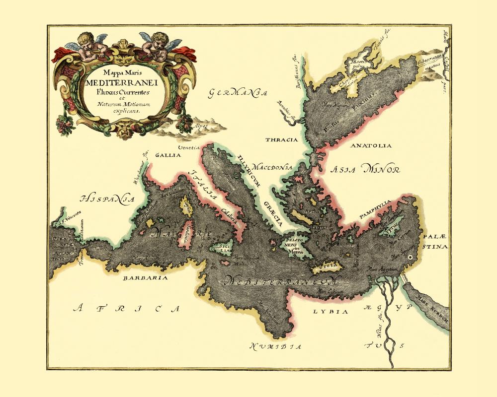 mediterranean sea old map – KOBEICA BLOG