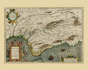 andalusia vintage map poster
