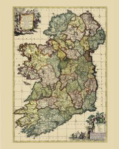 ireland antique map poster